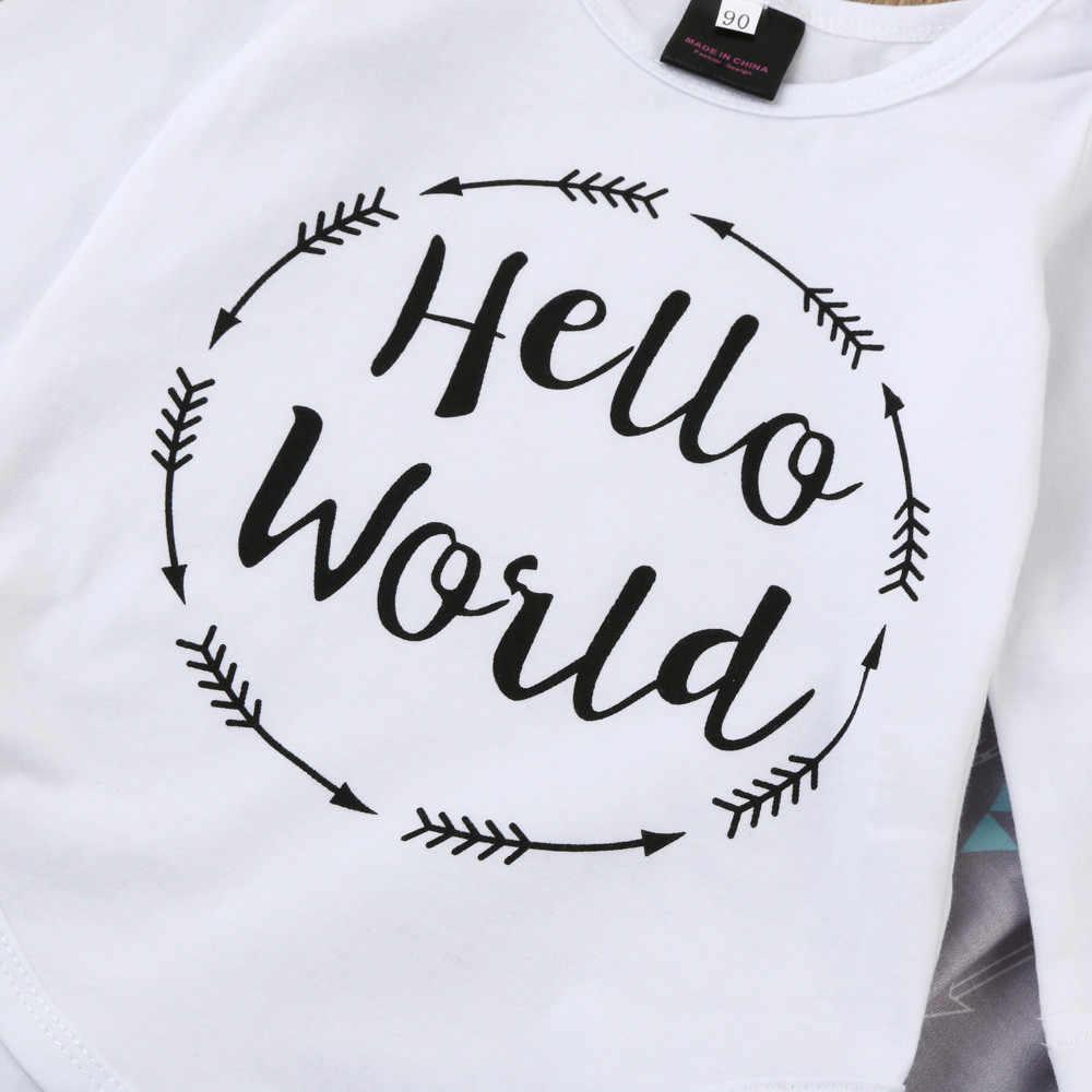 LONSANT/2018 хлопковый комбинезон с длинными рукавами и буквенным принтом для новорожденных мальчиков, топы + штаны со стрелками, комплекты одежды с шапкой, 1 комплект