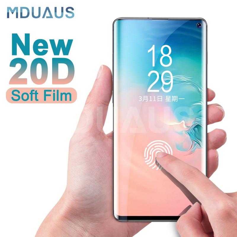 Защитная пленка 20D на весь экран для samsung Galaxy S10 S9 S8 Plus S10e Note 8 9 A6 A8 2018, мягкая защитная пленка без стекла-in Защитные стёкла и плёнки from Мобильные телефоны и телекоммуникации