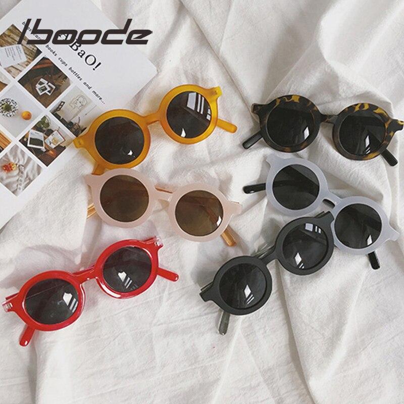 Iboode 2019 Fashion Round Kids Sunglasses Girls Children Goggle Baby Boys Anti-UV Sun Glasses Shades Colorful UV400 Eyewear