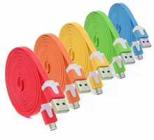 Micro USB Cable Flat Noodle Charger Cable Cord for HTC Sumsung Galaxy S5 i9500 N7100 For