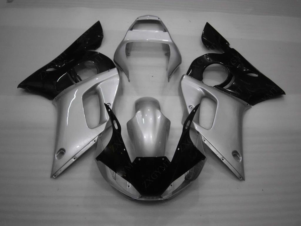 YZFR6 1998-2002 Abs обтекатель YZFR6 00 01 серебристо-черный всего тела Наборы YZF R6 2000 обтекателя