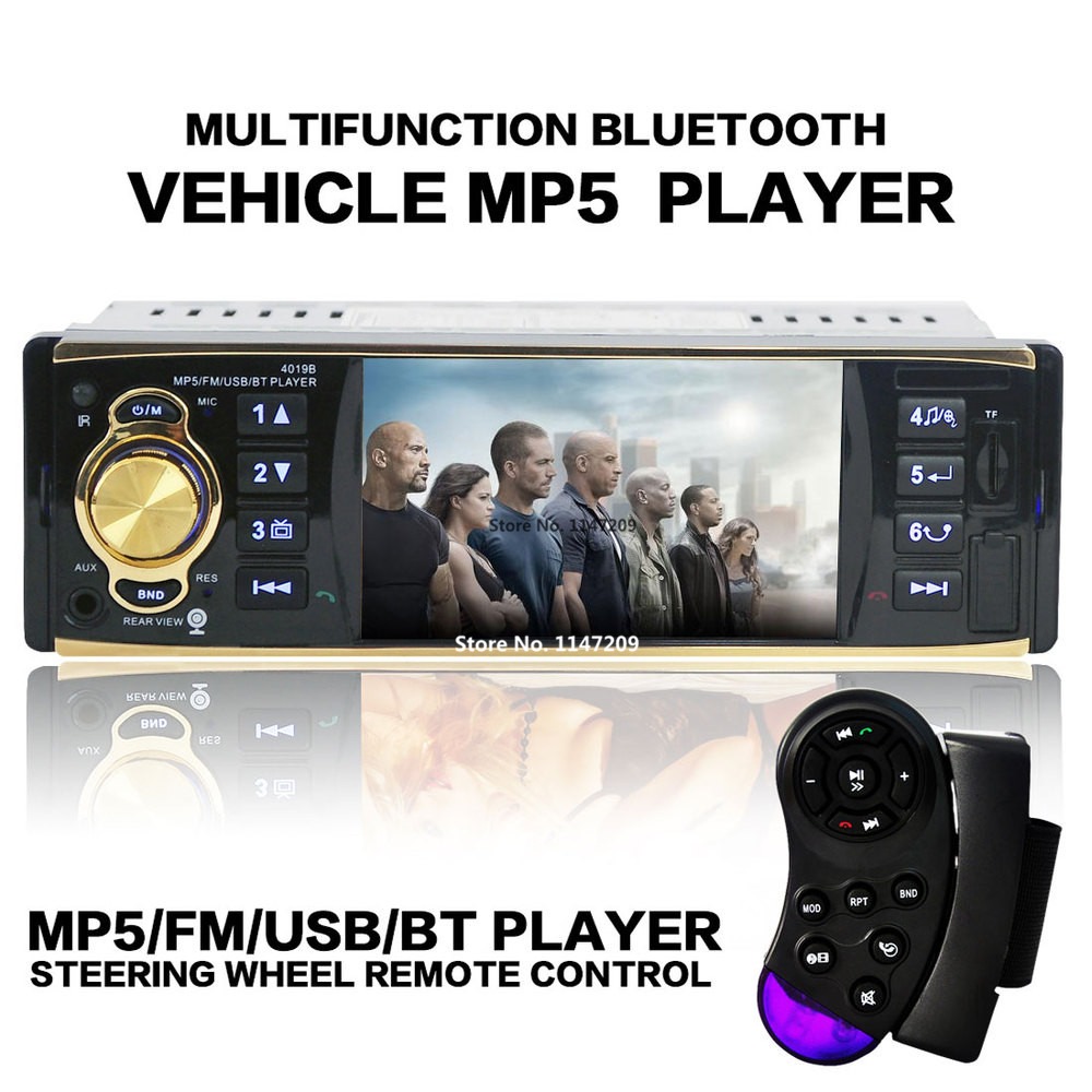 2017 4.1 inch TFT HD Screen Car radio Mp5 bluetooth Player car Audio Support Rear Camera View SD/USB Car MP4 MP5 1 din in dash стоимость