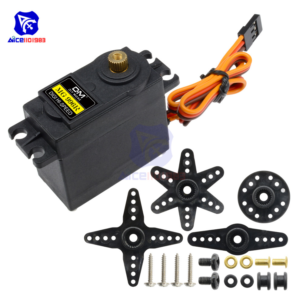 MG996R Metal Gears Digital Servo Motor For Futaba JR RC Helicopter Airplane Car Boat Robot AVR Toys Drone Arduino