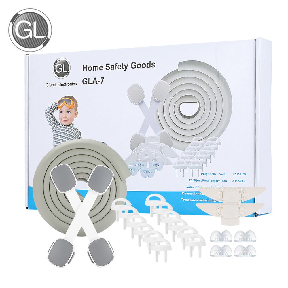 2018 Hot Gl Baby Home Safety Set Children Kids Protection Cabinet Doors Drawer Refrigerator Room Door Lock Edge Corner Guards In From