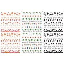 3 pacote/lote transferência de água decalque da arte do prego etiqueta do prego palmeira âncora pena YE321-323