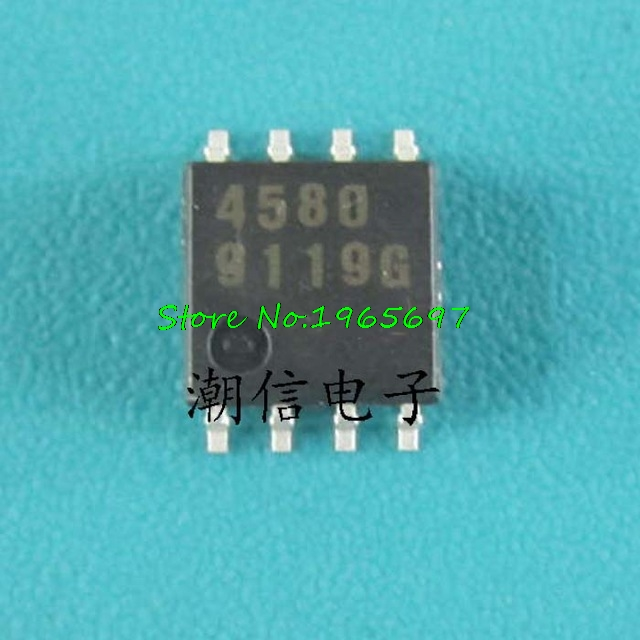10pcs/lot NJM4580M JRC4580 4580D 4580 SOP-8 In Stock