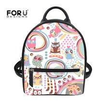 a87de3b20157a FORUDESIGNS hibou sac à dos pour adolescent Style coréen femmes sac à dos  cartable mignon motif adolescent filles petits sacs à .