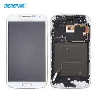 5 0 White For Samsung Galaxy S4 I9500 LCD Display Touch Screen Digitizer Assembly With Bezel