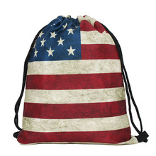 Drawstring Bag With Rope Watermelon Pattern Polyester Backpacks Women Men Travel Storage Package Teenagers backpack organizer na