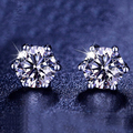 Fashion jewelry sterling-silver-jewelry stud earrings high quality crytal earrings for women sterling silver jewelry