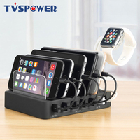 6 Ports Desktop USB Charger Multi Function 2.4A Fast Charging Station Dock With Stand Plug For iPhone Samsung HTC Mobile Phone