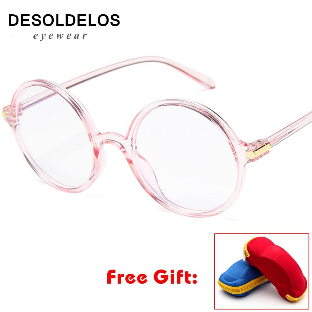 2019 Round Glasses Transparent Frame Fashion Men Gaming Glasses Brand Designer Women Pink Optical Eyeglasses Frames with box in Men 39 s Eyewear Frames from Apparel Accessories