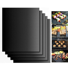 Reusable Barbecue Grill Baking Mat Non-stick BBQ Cooking Mats Covers Sheet Foil Oilpaper Heat-Resistant Pad Liner 1PC