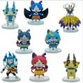 8 pçs/lote Yokai Relógio Figura Jibanyan Komasan Sussurro Toy Action Figures PVC Yokai Relógio Animais de Estimação Pequenos Presentes de Natal