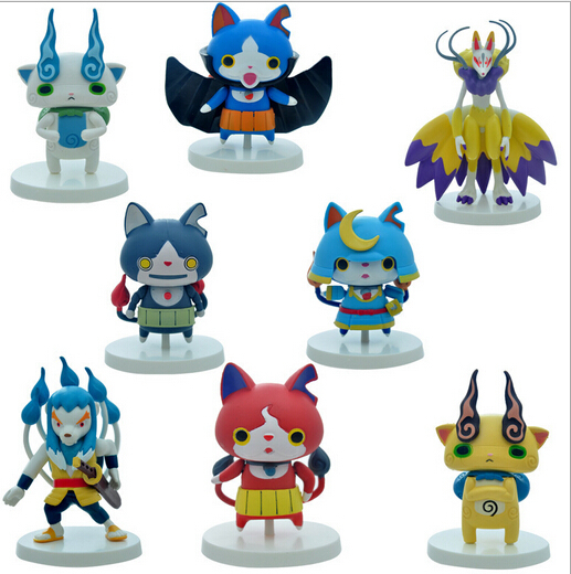 8pcs/set  Anime Yokai Yo-kai Youkai Watch  PVC Toys For Children