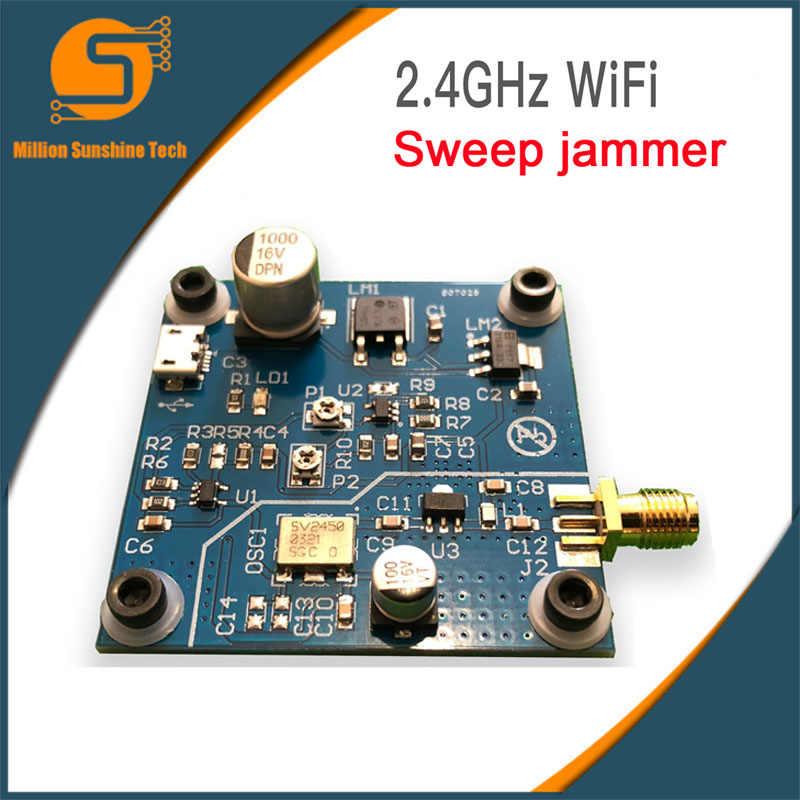 Free shipping 2 4GHZ WiFi swept jammer Shield 2 4G WiFi