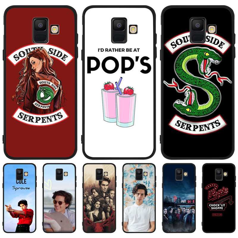 American TV Riverdale For Samsung Galaxy A9 A8 A7 A6 A5 A3 J3 J4 J5 J6 J8 Plus 2017 2018 Southside Serpent Case Cover Coque Etui in Half wrapped Cases from Cellphones Telecommunications