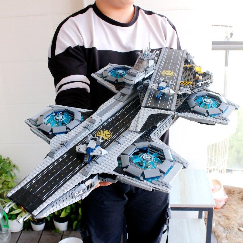 H & Helicarr SY1189 HXY EM ESTOQUE 2996 pcs Super Heróis marvel SHIELD Helicarrier 76042 07043 Kits Modelo de Construção de Blocos tijolos Brinquedos