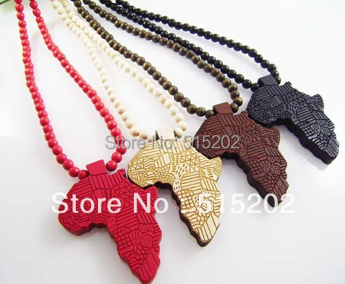 Online buy wholesale wooden africa jewelry from china wooden the new map of africa wood pendant necklace hip hop handmade beaded necklace jewelry free shipping aloadofball Image collections