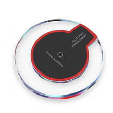 Qi Wireless Charging Pad For iPhone X XS XR 8 Plus Samsung S9 S8 S7 S6 High Quality Wireless Charger + Micro USB Charging Cable цена