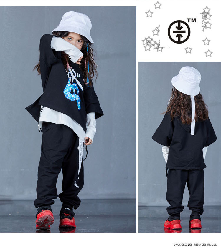 boys hip hop clothing set 1073-16