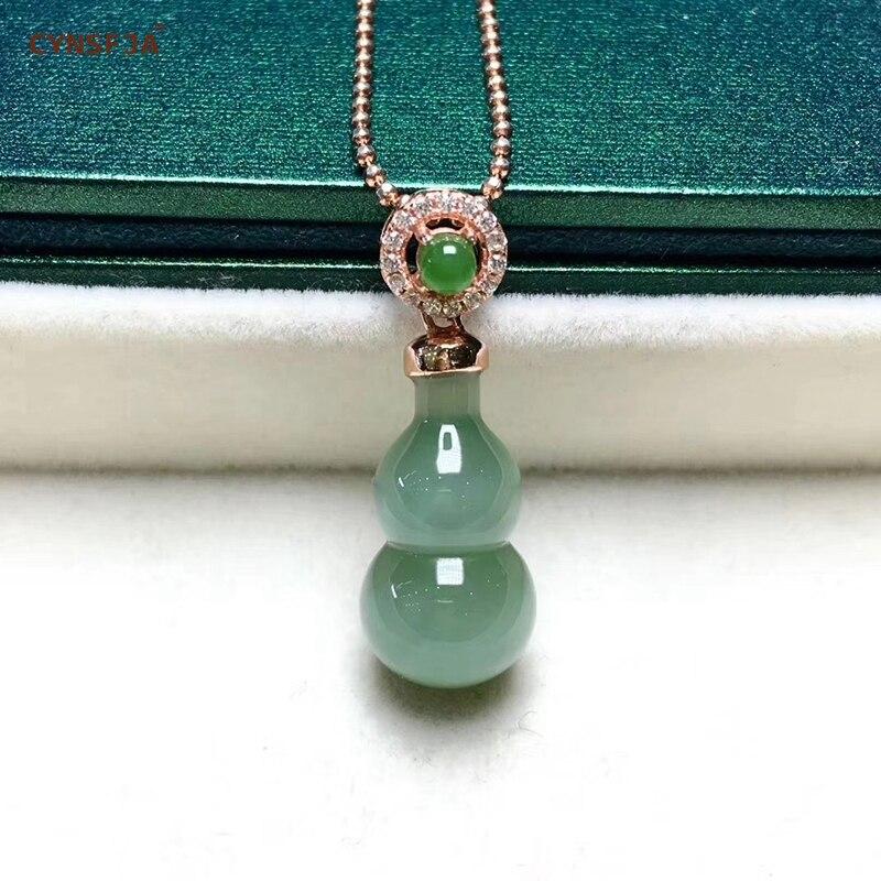 Jaspe Hetian naturel certifié incrusté 925 argent Sterling gourde chanceux Jade pendentif vert sculpté à la main de haute qualité meilleurs cadeaux