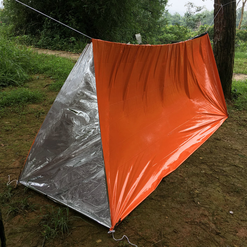 240*150CM PE Material Outdoor Insulation Emergency Tent Disaster Temporary Shelter Sunscreen Reflective Self-rescue Equipment