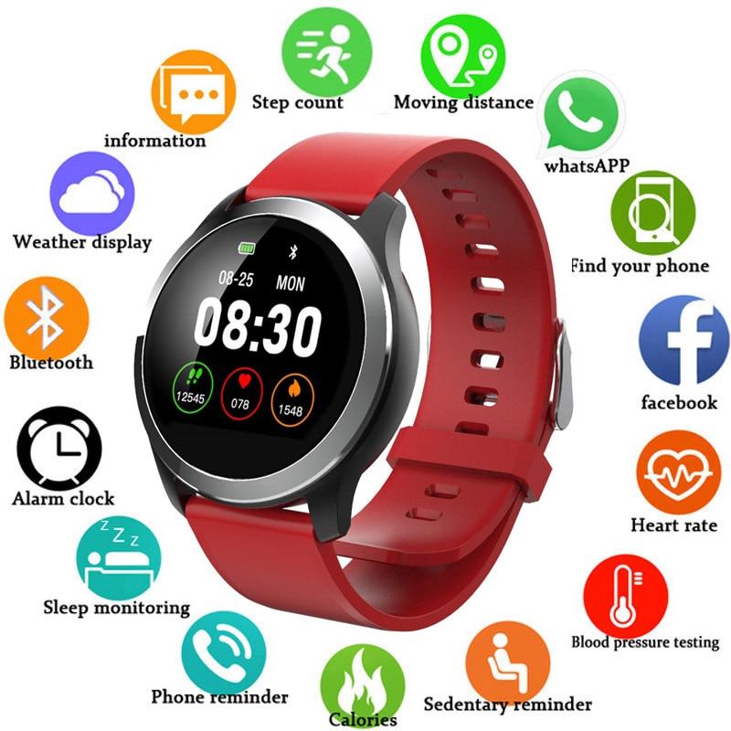266af4297 2019 New Smart Watch Men Women Fitness Tracker Heart Rate Blood Pressure  Monitor Smartwatch Sport Watch