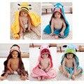 5 pçs/lote-NOVA Chegada Toalhas & Vestes das Crianças bonito Dos Desenhos Animados do bebê animais modelagem roupão toalhas de bebê FRETE GRÁTIS roupão de banho