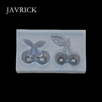 Lindos pendientes de horquilla de cerezo colgante Molde de resina de silicona herramientas artesanales accesorios de bricolaje herramienta de fabricación de joyas