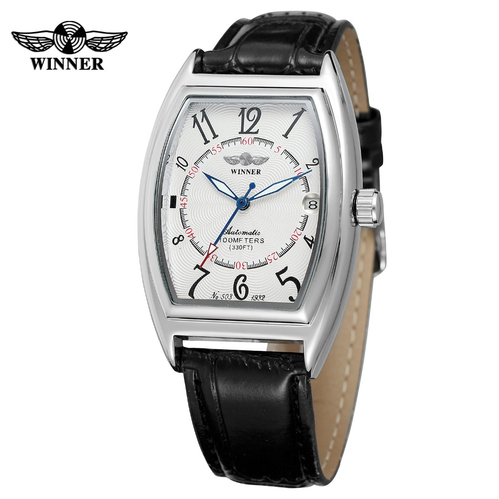 Rectangle T- winner Relojes Hombre Mechanical Brand Watches Automatic Men Watch Male Watches Genuine Leather Strap BusinessRectangle T- winner Relojes Hombre Mechanical Brand Watches Automatic Men Watch Male Watches Genuine Leather Strap Business