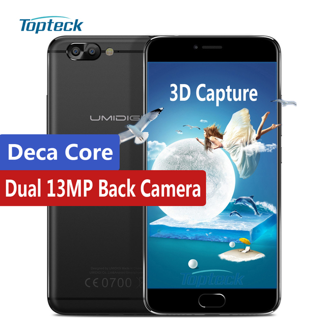"UMIDIGI Z Pro MTK Helio X27 Deca Core 2.6GHz Smartphone 4G 5.5"" FHD 1920*1080 4GB+32GB Android 6.0 Fingerprint 13MP Mobile Phone"