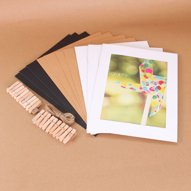 8 inch panoramic kraft paper frame wholesale picture hanging photo wall