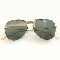 Fashion Pilot Sunglasses for Women Mens Metal Frame Rimless Sun Glasses UV400 Resin Glasses Lens Shades Oculos De Sol Feminino