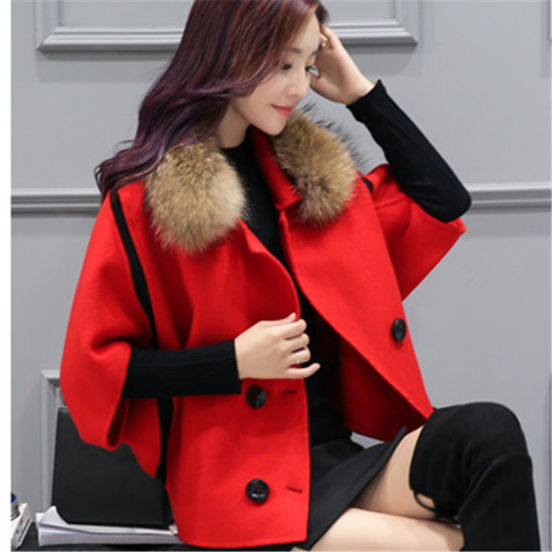 Spring Elegant Women Slim Coat Fur Color Short Sleeve High Quality Streetwear Red Yellow Coat 2018 11