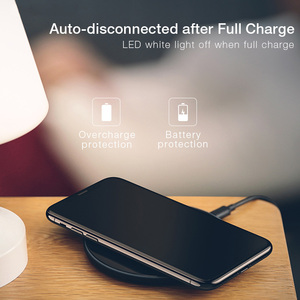 Image 4 - 10W Qi wireless charger for iPhone X XS Max XR 8 plus,USAMS wireless charging pad fast charge for Samsung S8 S9 plus note 9 8 s7
