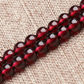 "Grade 5A Natural Garnet Beads Stone Strand 15"" DIY Bead For Women Bracelet & Necklace Making"