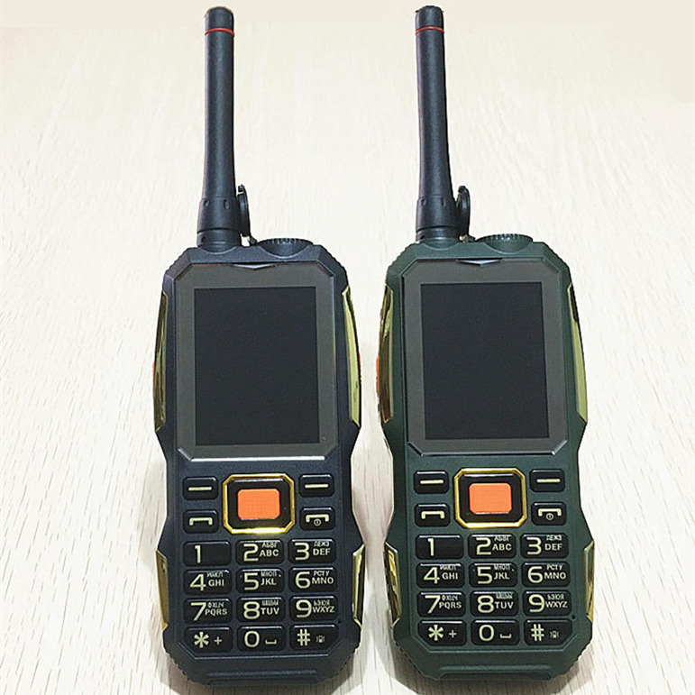 gsm PHONES Walkie Talkie <font><b>power</b></font> bank wireless FM mobile phone Rugged shockproof china cheap Cell Phones russian keyboard button
