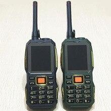 Gsm TÉLÉPHONES Talkie Walkie puissance banque sans fil FM mobile téléphone Robuste antichoc chine pas cher Téléphones Cellulaires russe clavier bouton