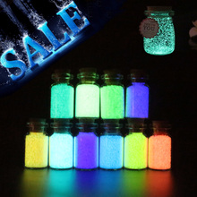 Hot DIY Wish Bottle 10g Luminous Raw Material Glow Paint Pigment Party DIY Bright Paint Star Wishing Bottle Fluorescent Particle glow in the dark 10g luminous party diy bright paint star wishing bottle fluorescent particles brinquedos toys