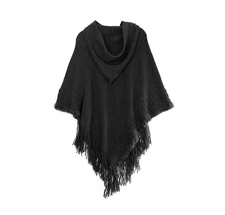 bacc69872a163 ... Big scarves winter scarf Sweater poncho women Bohemian Shawl Scarf  Hooded blankets Cape shawl Ponchos and ...