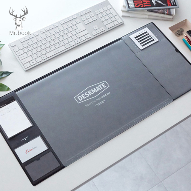 Us 15 84 29 Off Large Mice Pad Office Computer Desk Mat Modern Table Waterproof Pvc Laptop Cushion Multifunction Large Mouse Pad With Calendar In