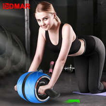 DMAR Silent TPR Abdominal Wheel Roller Trainer Fitness Equipment Gym Home Exercise Body Building Ab roller Belly Core Trainer цена