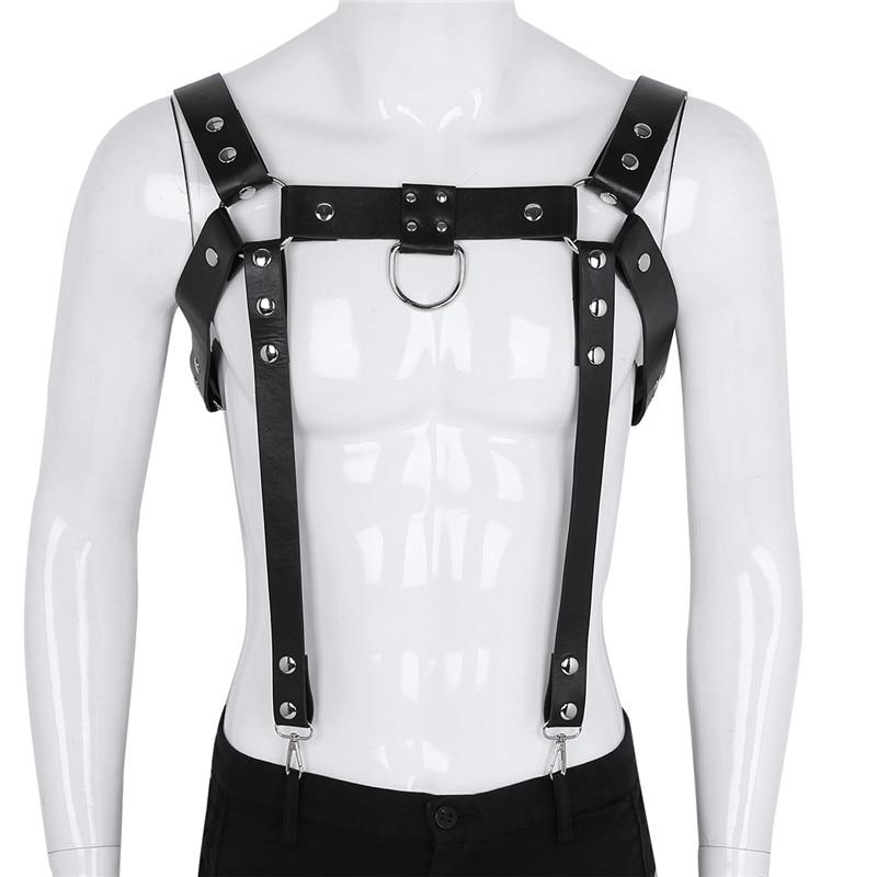 Buy MSemis Harness Men Bondage PU Leather Harness Men Gothic Body Chest Harness Belt Gay bdsm Bondage suspensores para hombre gay