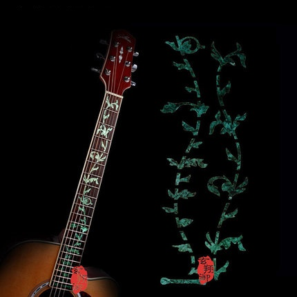 IM Guitar Frets Inlay Decal Sticker White Steve Vai Tree of Life 24 Frets guitar or bass tree of life fretboard silver color inlay ultra thin sticker
