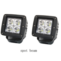 2pcs 3 Inch 12W LED Work Light For Indicators Motorcycle Spot Flood Beam Driving Offroad Boat