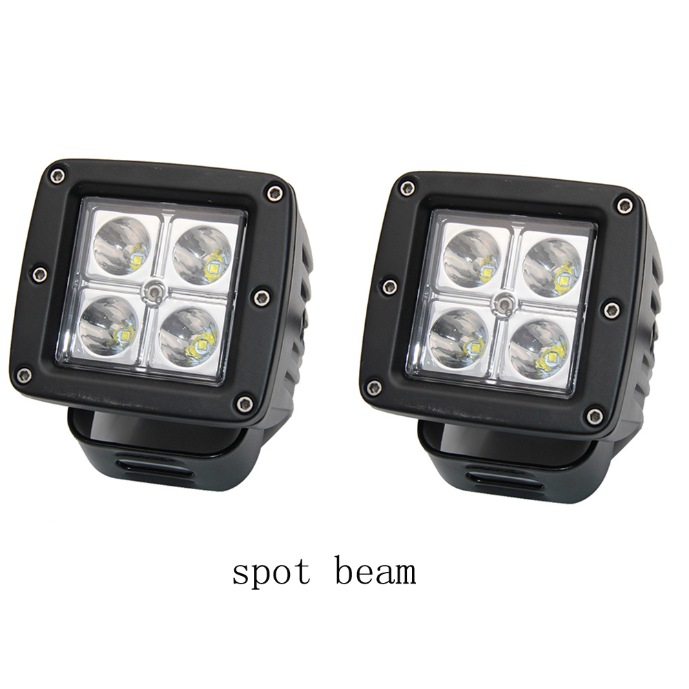2pcs 3 inch 12W LED Work Light  for Indicators Motorcycle Spot/Flood beam Driving Offroad Boat Car Tractor Truck 4x4 hunting 2pcs 6 inch 18w led work light for indicators motorcycle driving offroad boat car tractor truck 4x4 suv atv spot flood 12v