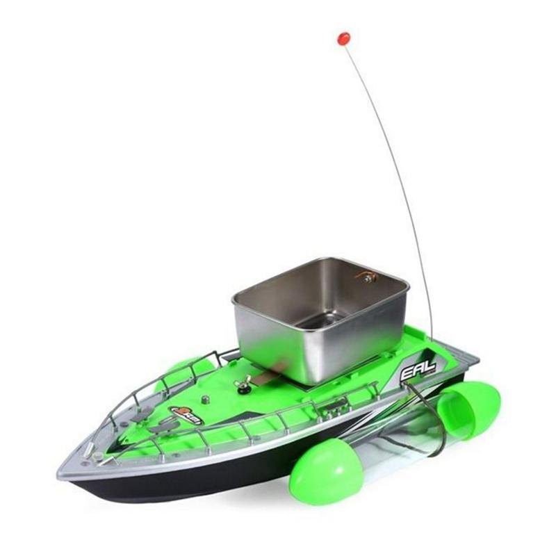 Wireless Remote Control Boat Electric Mini RC Fishing Bait Boat for Outdoor Adventure