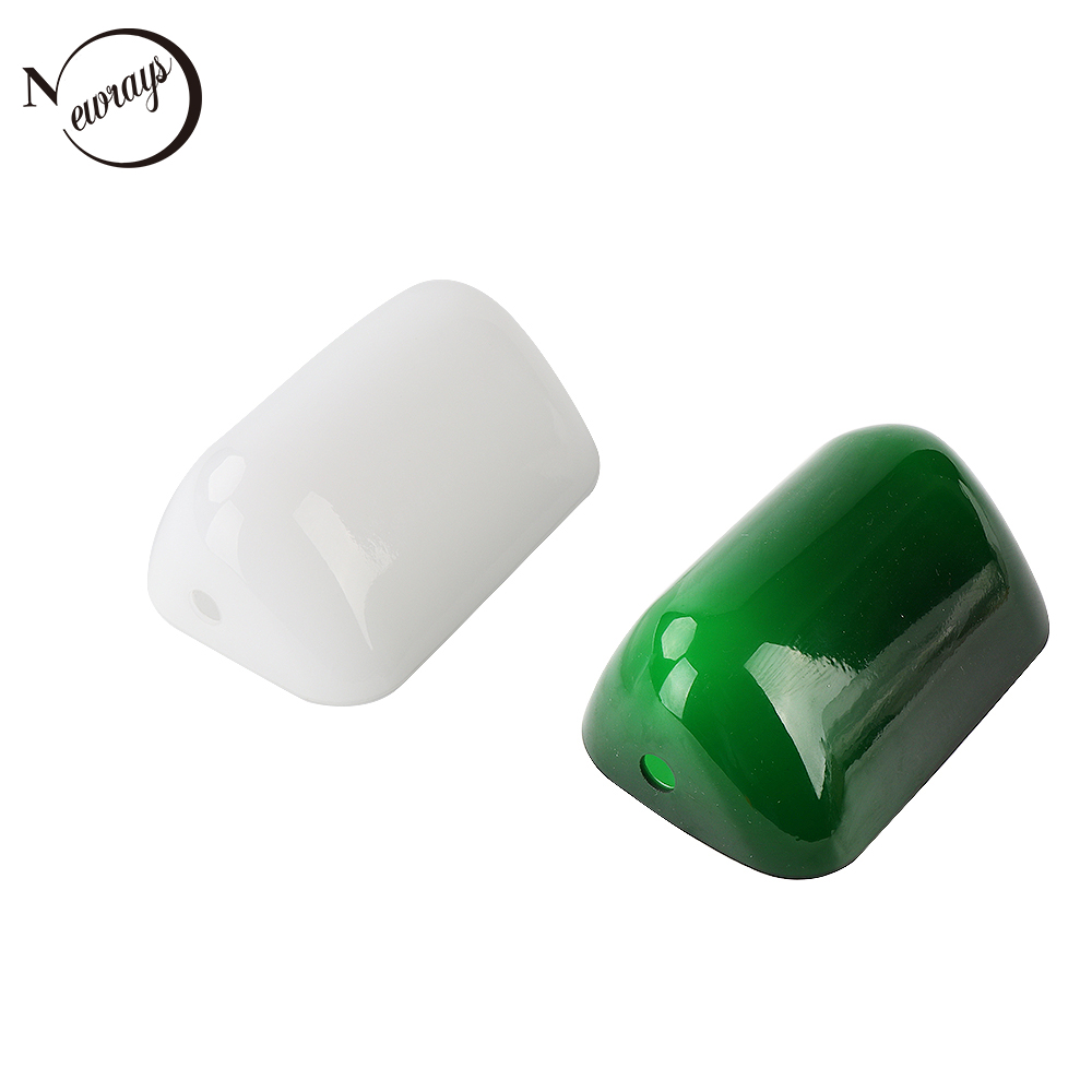 Lámpara moderna industrial Retro verde/blanca, lámpara de Banco de cristal, sala de estudio, sala de oficina, sala de café, lámparas de dormitorio 2 piezas de lámpara de papel de pantalla blanca para colgar