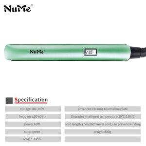 Image 3 - מקצועי LCD תצוגת שיער מחליק קרמי שטוח ברזל ברק טיפול שיער Curler קרלינג ברזל סטיילינג כלי עבור ברזיל